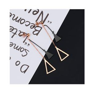 Simple Triangle Drop Earrings